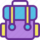 adventure, adventure bag, bag, camping, shop icon