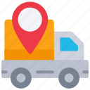 delivery, ecommerce, location, pin, truck