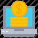 computer, dollar, ecommerce, laptop, money