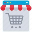 ecommerce, online, shop, shopping, store, trolley