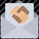 business, ecommerce, email, hand, shake, thankyou