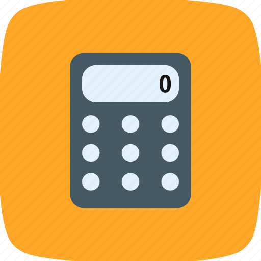 accounting, calculator, math, school, steel icon