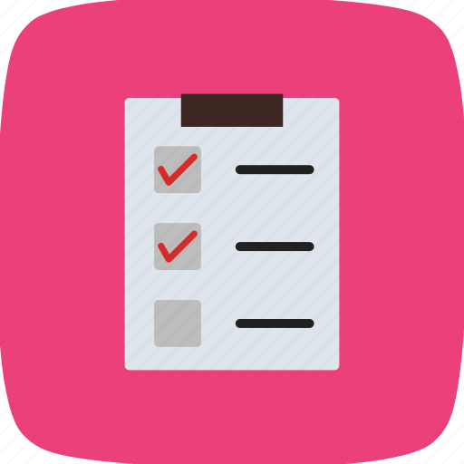 check list, checklist, clipboard, list icon