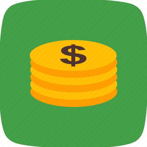 business, buying, coins, economy, funds, money, stacked icon