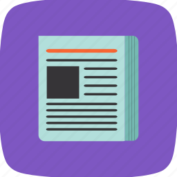 media, news, news paper, social icon