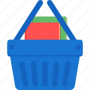 basket, book, business, cart, ecommerce, shopping icon