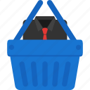 basket, cart, cloth, ecommerce, shirt, shopping icon