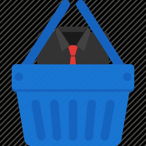 basket, cart, cloth, ecommerce, shirt, shopping icon