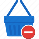 basket, remove, cart, ecommerce, shopping, trash