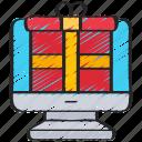 buy, computer, ecommerce, gift, online, present