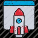 ecommerce, launch, rocket, startup, website