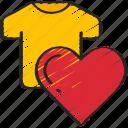 clothing, ecommerce, heart, like, product
