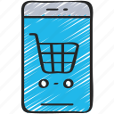 cart, ecommerce, iphone, mobile, shopping, trolly