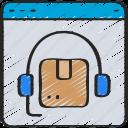ecommerce, headset, online, order, parcel, support