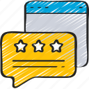 ecommerce, message, online, review, stars icon