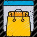bag, ecommerce, internet, online, shopping