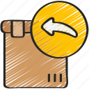 back, delivery, ecommerce, parcel, return, send icon