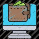 computer, ecommerce, money, online, spend, wallet