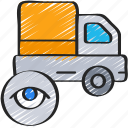 ecommerce, track, view, truck, delivery icon