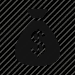 money, money bag, sack icon