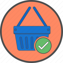 basket, buy, cart, confirm, ecommerce, shop, shopping icon
