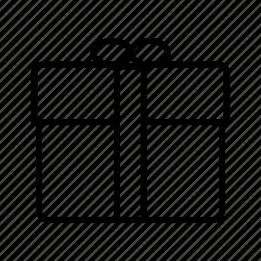 bow, box, gift, giftbox, parcel, present, ribbon icon