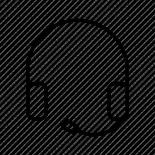 communication, headphone, headphones, headset icon