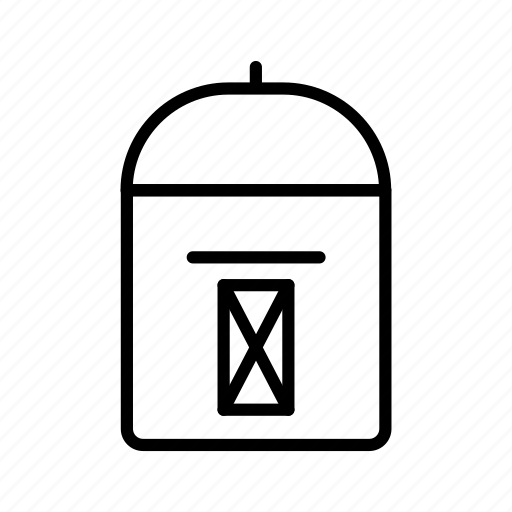 box, letter, mail, mailbox, post, postal icon