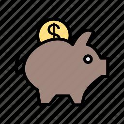 money, piggy bank, savings icon