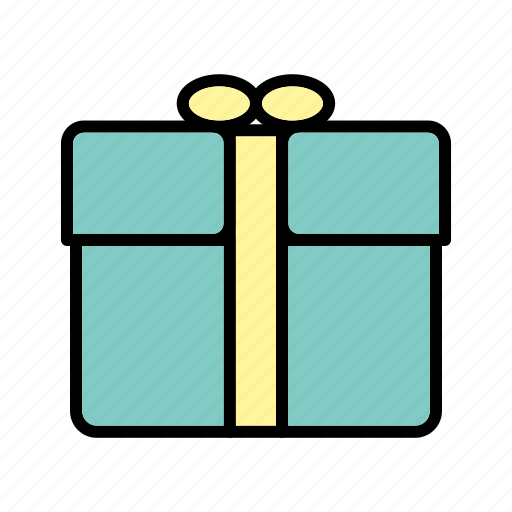 gift, gift box, package, present icon