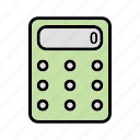 accounting, calculator, math, school, steel icon