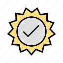 accept, stamp, valid, valid badge icon