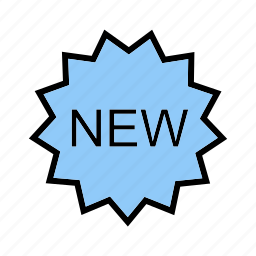 accent, design, new, sticker, store, text, web icon