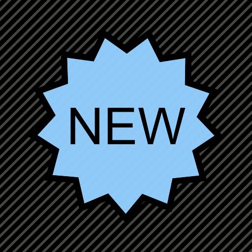 badge, label, new, tag icon