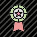 award, badge, medal, ribbon icon
