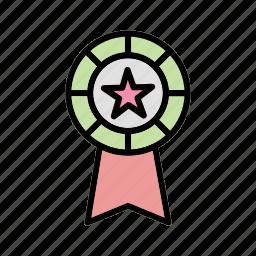 award, award badge, badge, ribbon icon