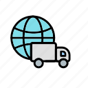 delivery, global delivery, logistics, shipping icon