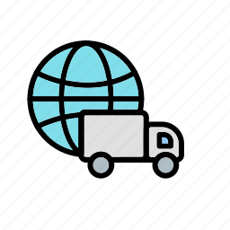 box, delivery, global, order, service, shipping, support icon