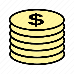 buying, coins, economy, funds, money, stack icon