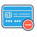 banking, ecommerce, remove card, secured payment, shopping, transaction icon