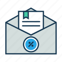advertisement, email, email notification, marketing, offer, online shop, subscribe icon