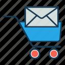 buy, ecommerce, email notification, notification, reminder, shopping cart icon