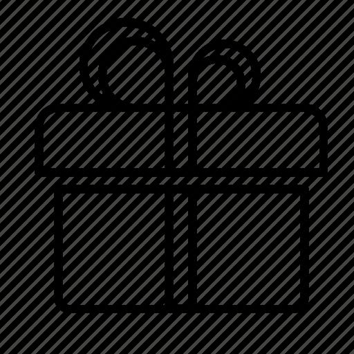 birthday, box, ecommerce, gift, holiday, online, ribbon icon