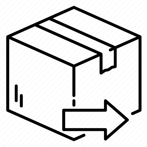 arrow, box, business, delivery, package, send, shipping icon