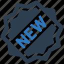 new, sticker, badge