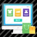online shopping, web shopping, ecommerce, eshopping, digital shopping icon