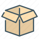 cargo, packaging icon
