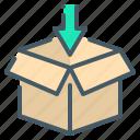 cargo, parcel, service icon