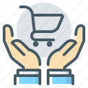 cart, consumer, ecommerce, hands, protection