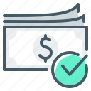 cash, money, spot, currency, payment icon